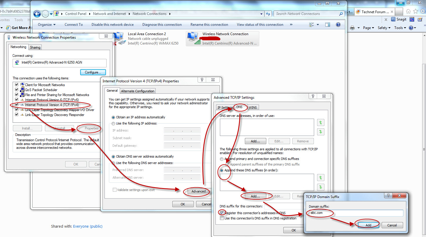 Configure additional DNS Suffix in NIC properties 2